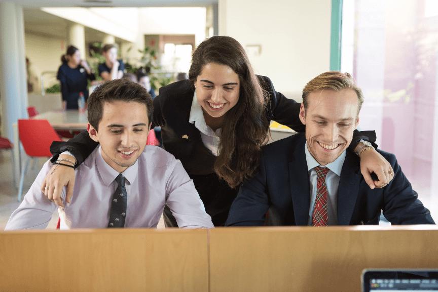 Teamwork while studying Hospitality Management