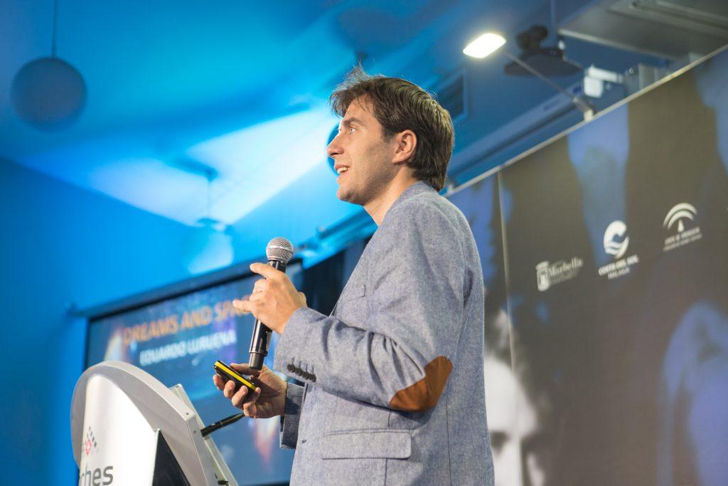 SUTUS 2019. Astronaut and marial arts world champion Eduardo Lurueña speaks at Les Roches Marbella.